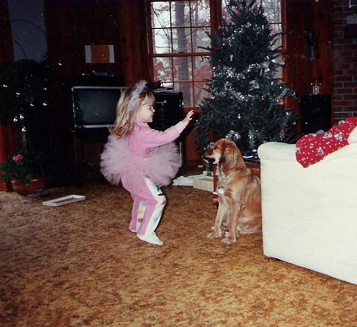 Amber Gail Bennett, daughter of Christina Boyer, Christmas 1991