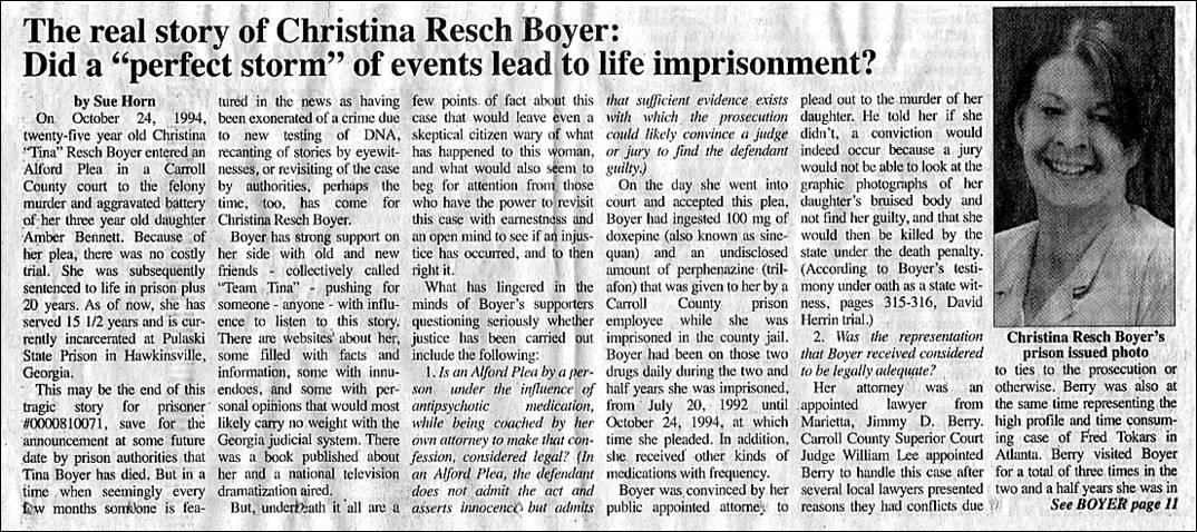 Carroll Star News article on Christina Boyer