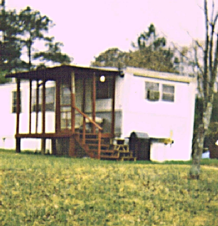 Rented trailer of David Herrin, early 1990s