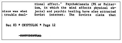 Soviet Psi Experiments December 1983 Cryptolog NSA