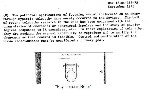 US Government Interest in Telekinesis and Psychokinesis