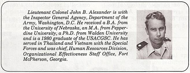 John B. Alexander The New Mental Battlefield