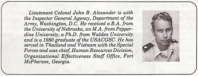 John B. Alexander The New Mental Battlefield