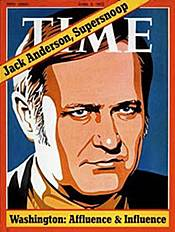 Jack Anderson on cover of Time magazine, April 3, 1972
