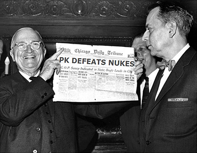 Dewey Defeats Truman newspaper headline parody