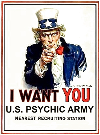 I Want You US Psychic Army poster